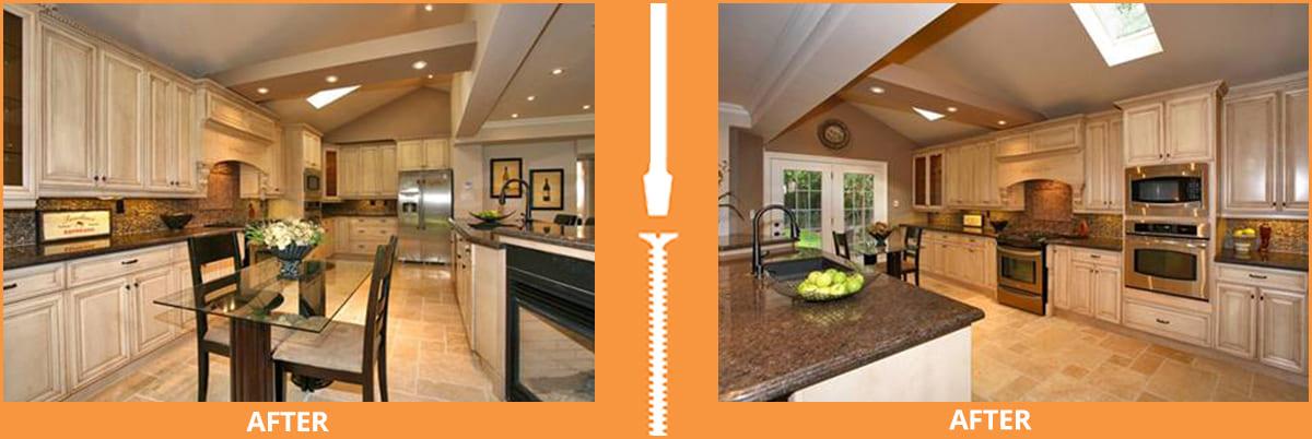 After images of remodeled kitchen