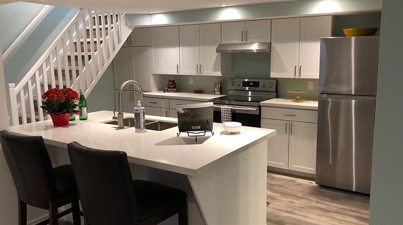 Basement kitchen in duplex