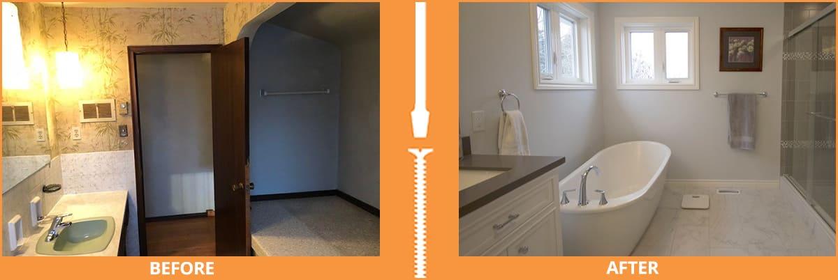 Dull to bright bathroom renovation
