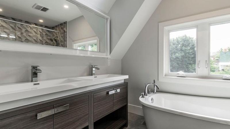 bathroom with large vanity