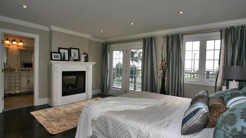Master bedroom with fireplace