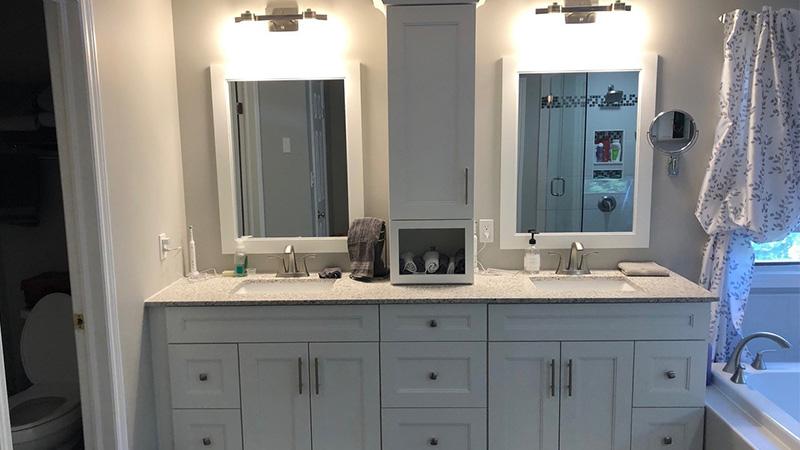 dual person bathroom design
